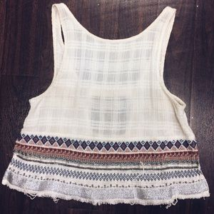 Urban Outfitters Ecoté embroidered bohemian top